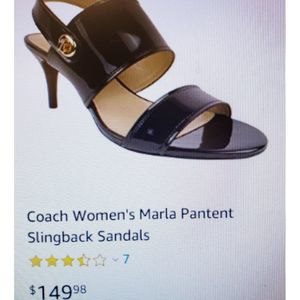 Coach Marla Patent Sling Back Shoes